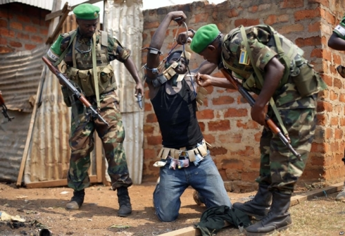 Authorities examine good luck charms used by Anti-Balaka fighter