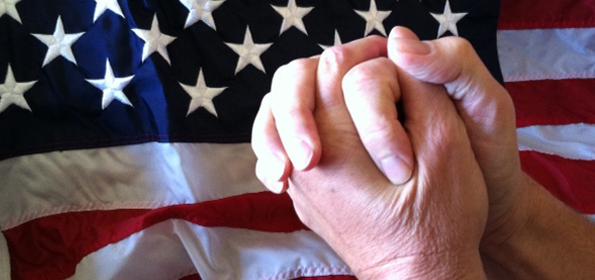 prayhandsflag