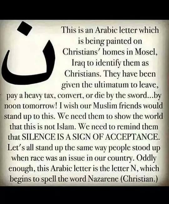 Christians Labeled For Death In Iraq Using A Symbol For Christ I