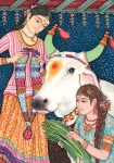 In Hinduism, the cow is a symbol of wealth, strength, abundance, selfless giving and a full Earthly life.