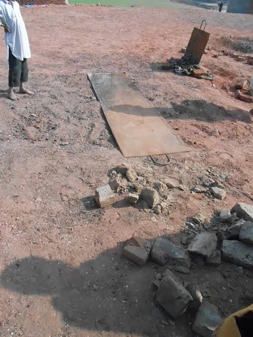 Brick Kiln Site where Christian Couple Burned Alive, Christians have turned this into a memorial for them, with frequent visits to pray, and remember.  Photo: VOP