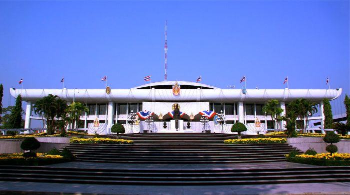 """Thai Parliament House"" by Sodacan - Own work. Licensed under Public Domain via Wikimedia Commons - http://commons.wikimedia.org/wiki/File:Thai_Parliament_House.JPG#/media/File:Thai_Parliament_House.JPG"