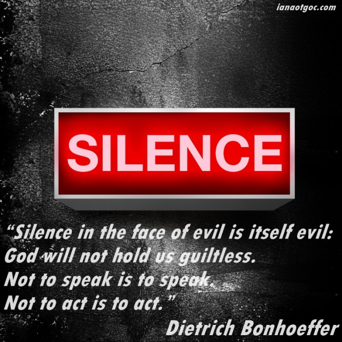 silence in the face of evil