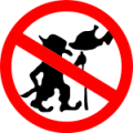By: Sam Fentress (traced to SVG by James Hales) - Tracing of Image:DoNotFeedTroll.png  (Wiki-media)