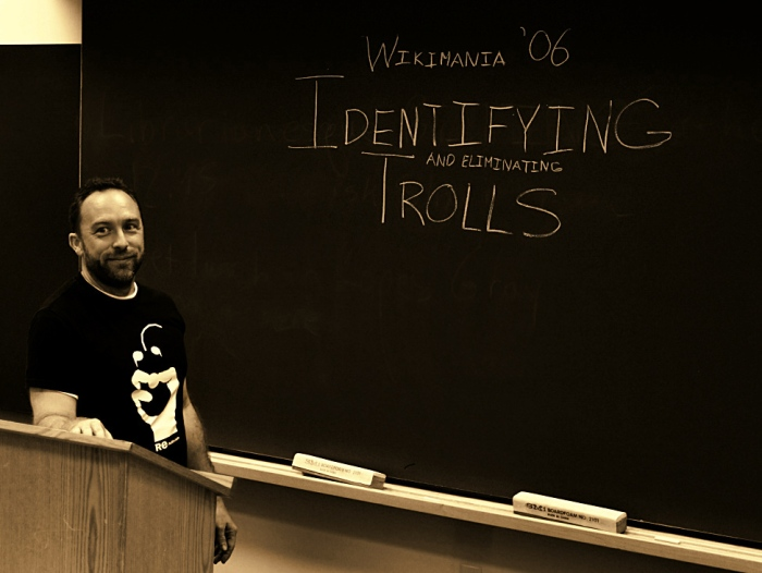Wikimania '06 Identifying and Eliminating Trolls - Jimbo Wales discusses trolling in a special session during Wikimania 2006.