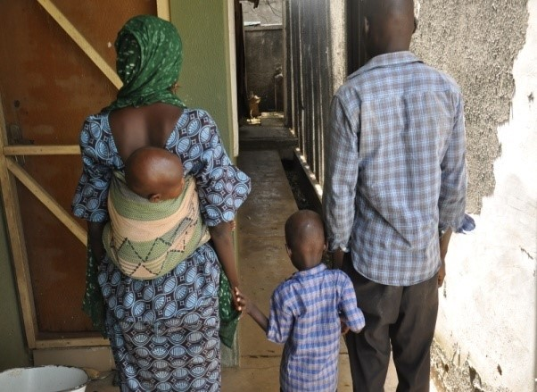REUNITED WITH HER HUSBAND AFTER 2 YEARS OF ENSLAVEMENT BY THE BOKO HARAM.