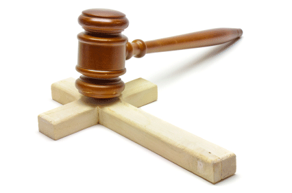 gavel-on-cross